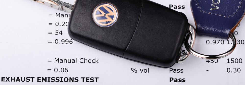 "VW emissions test showing ""pass"""