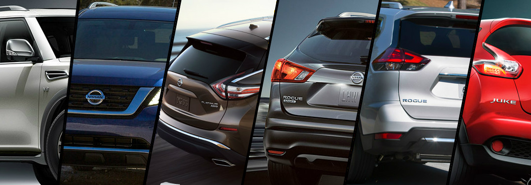 Split screen of the Nissan Crossover models