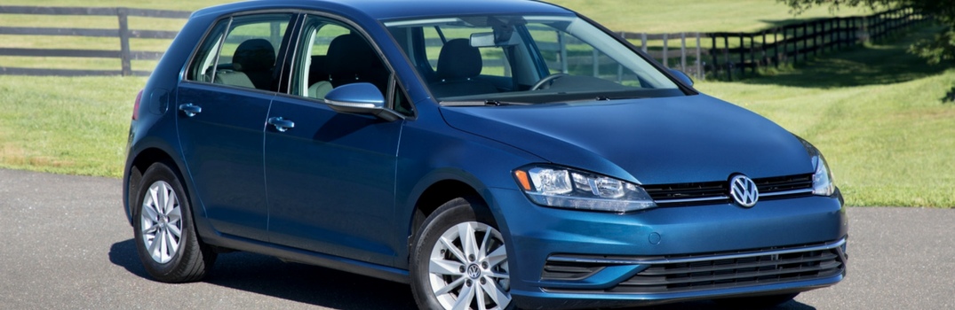 2018 Volkswagen Golf parked on the road.