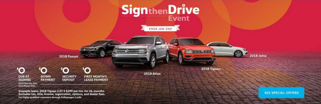 Sign then Drive Event ad at Michael Volkswagen of Fresno