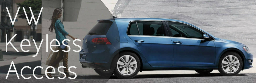 "Picture of Volkswagen Golf with ""VW Keyless Access"" written over it"