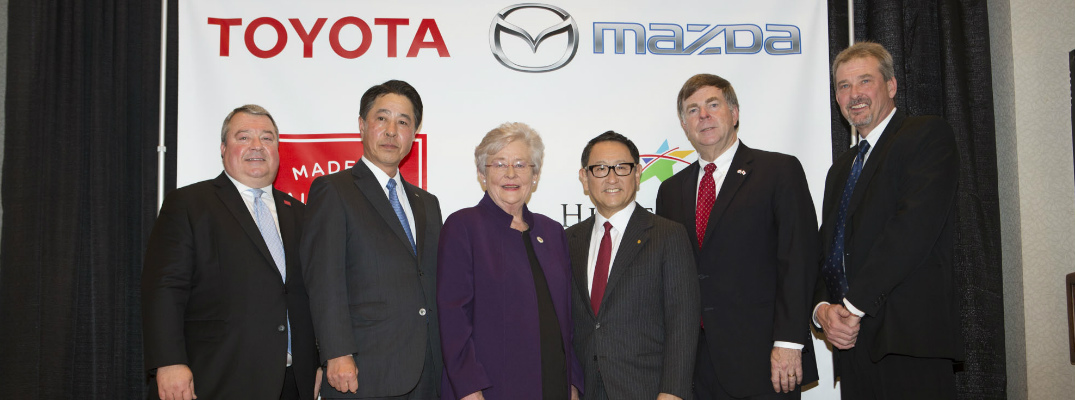 Mazda Toyota and Alabama Officials Celebrating Annoouncement of New Manufacturing Plant in Alabama