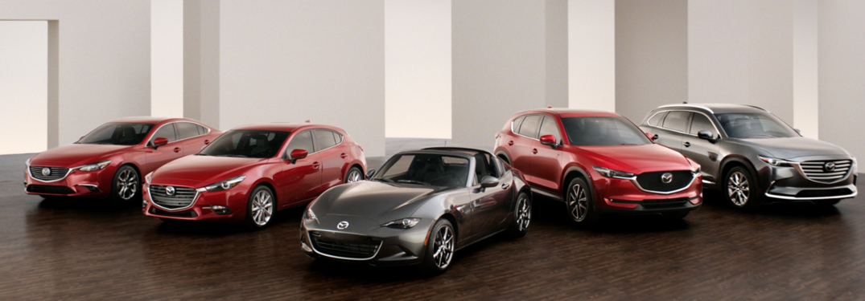 Full Line-up of 2018 Mazda Vehicles