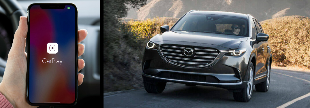 does the 2019 mazda cx 9 have apple carplay and android auto. Black Bedroom Furniture Sets. Home Design Ideas