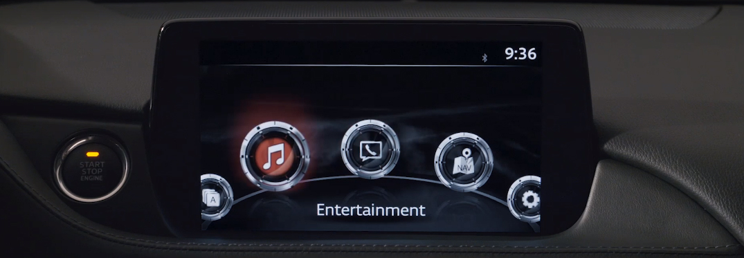 Entertainment title and icon on the touchscreen of the MAZDA CONNECT™ infotainment system