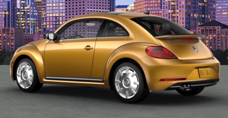 Exterior View Of 2018 VW Beetle In Sandstorm Yellow Metallic