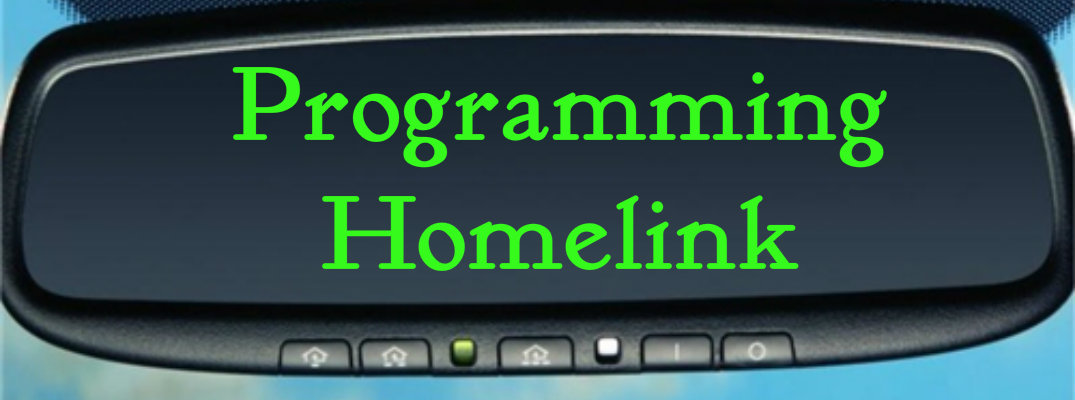 My homelink will not program