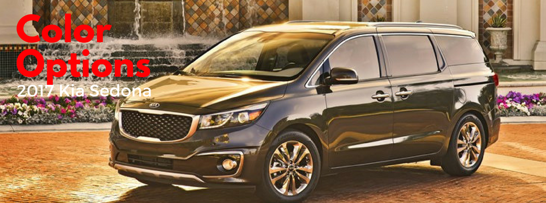 2017 Kia Sedona Color Options and Pricing