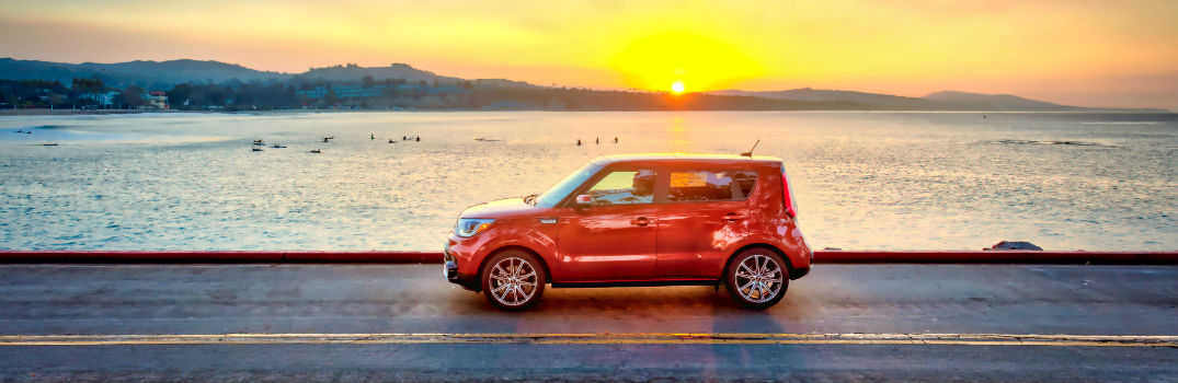 2018 Top Safety Pick Plus Kia Soul Exterior Driver Side Profile Sunset