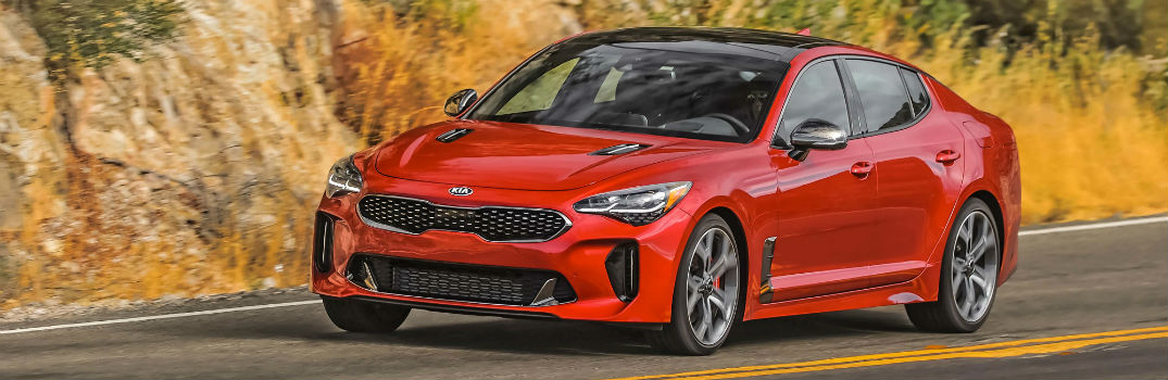2018 Kia Stinger GT2 AWD Red Exterior Front Driver Side