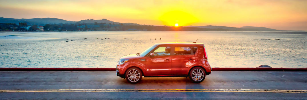 2018 Kia Soul Exterior Driver Side Profile at Sunset