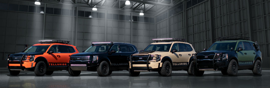 2020 Kia Telluride Models Customized for 2018 SEMA Show