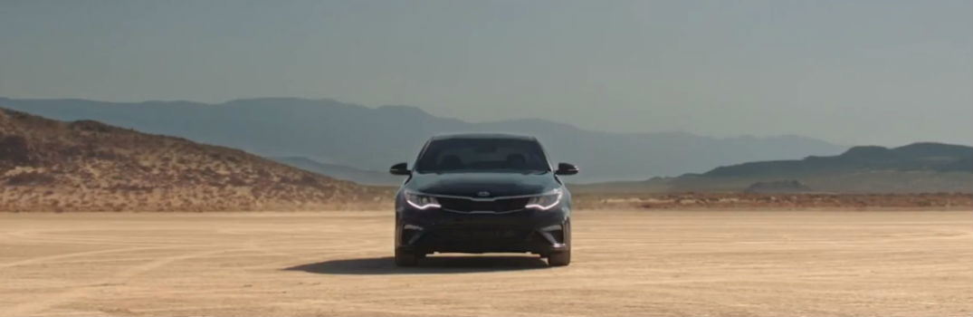 2019 Kia Optima in the desert