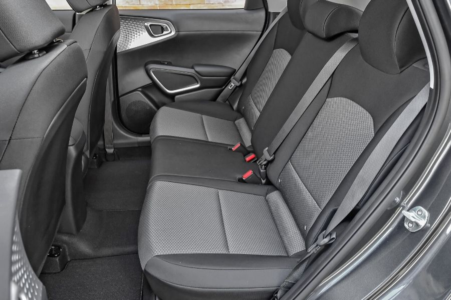 Back seat of 2020 Kia Soul