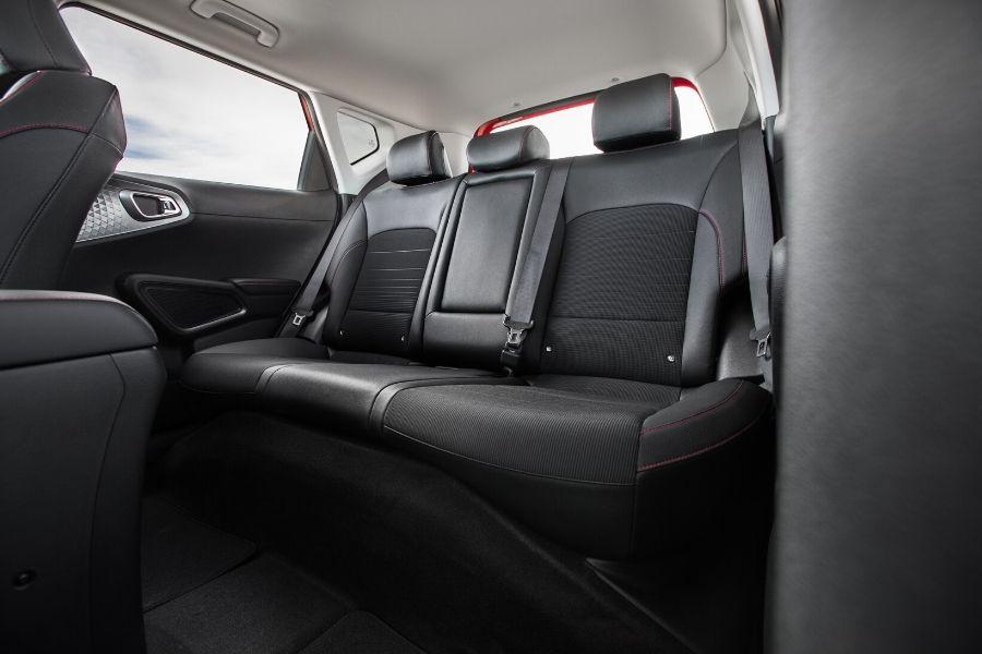 View of back seat in 2020 Kia Soul