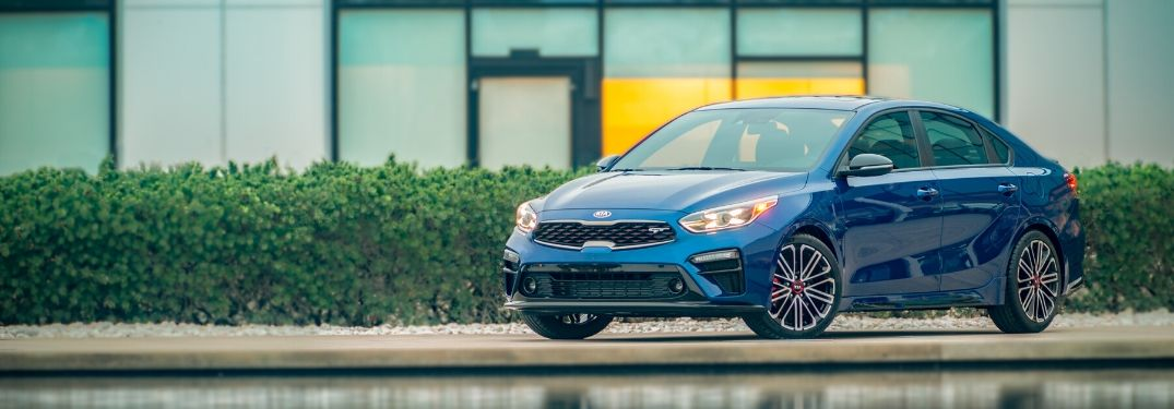 2020 Kia Forte parked in front of pool