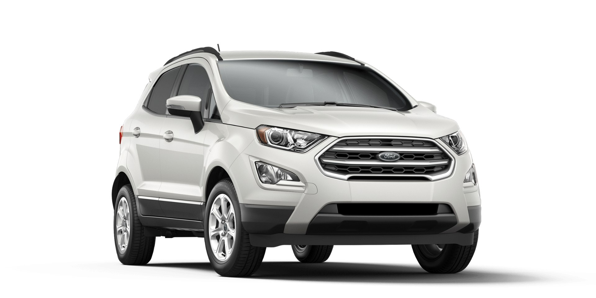 Ford Ecosport White Platinum Front View