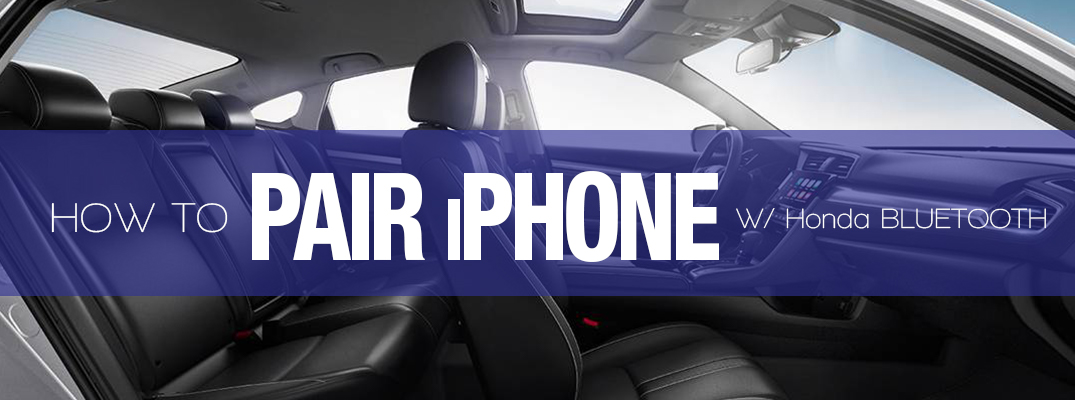 How To Pair Iphone With Honda Bluetooth