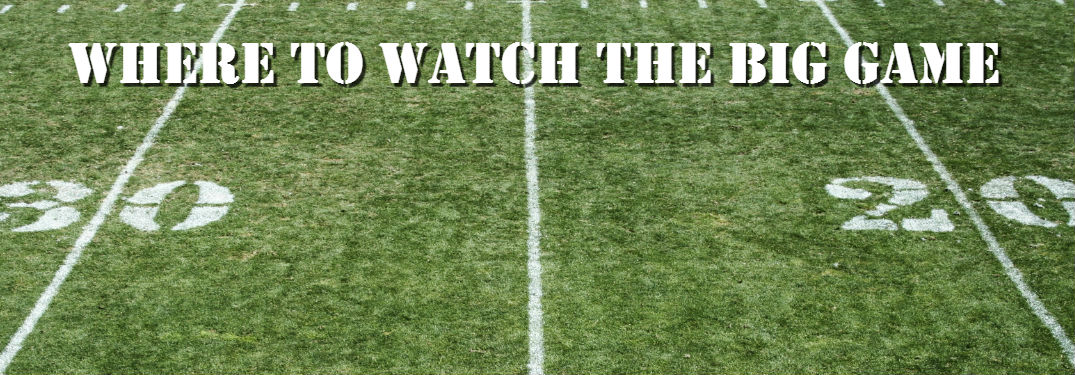 Where To Watch The 2017 Super Bowl Near Rocky Mount, NC » Football Field  With Big Game Text 1075x375_b