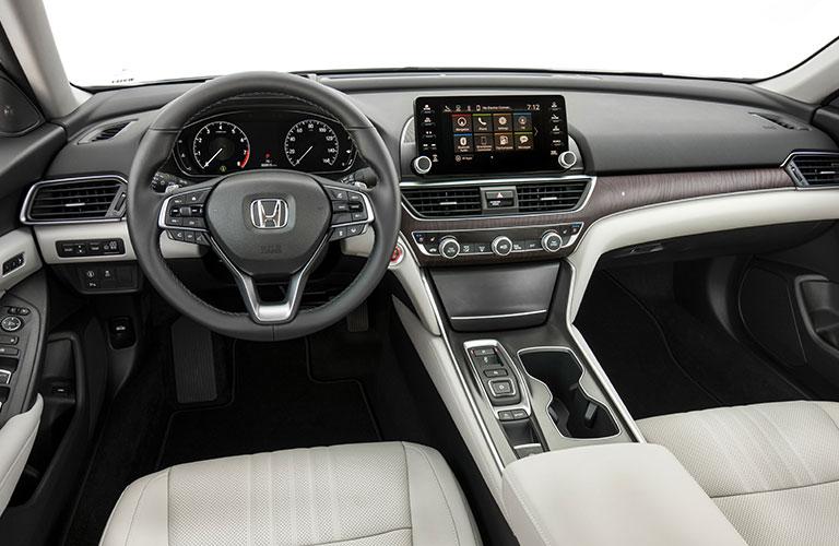 2018 Honda Accord interior dash and steering wheel