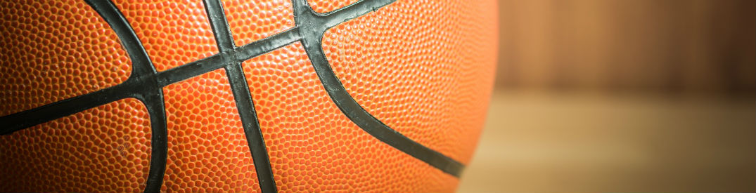 Close Up View Of A Basketball Sitting On The Court