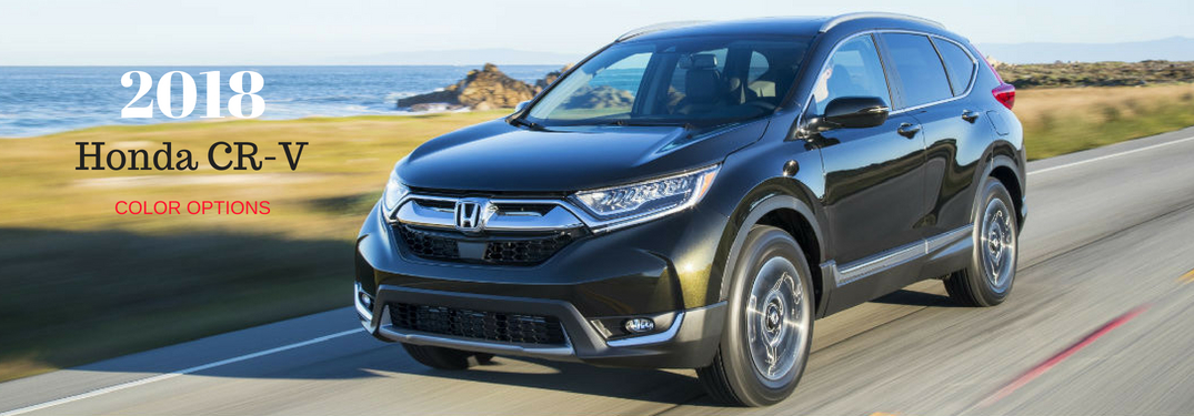 What are the Exterior Color Choices for the 2018 Honda CR-V?