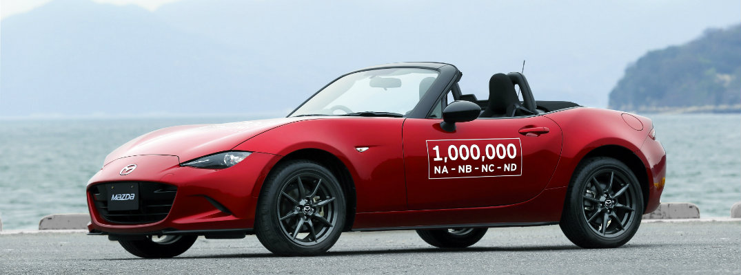 the design on the one millionth 1,000,000 mazda mx-5 miata produced