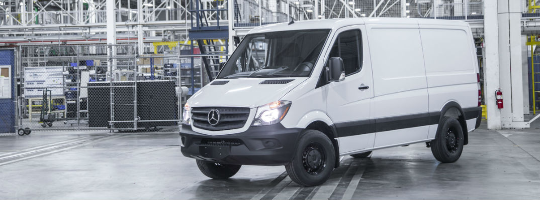 2017 mercedes-benz sprinter cargo worker van in arctic white
