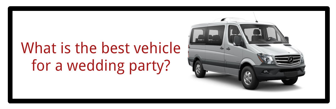 What is the best vehicle for a wedding party?