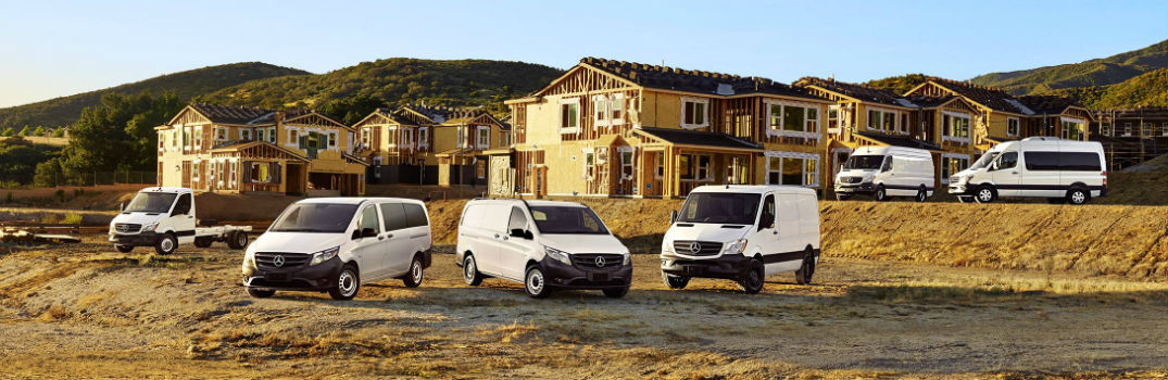 What kinds of businesses use Mercedes-Benz Vans?