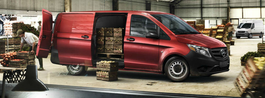 2017 Metris WORKER Cargo Van in Red