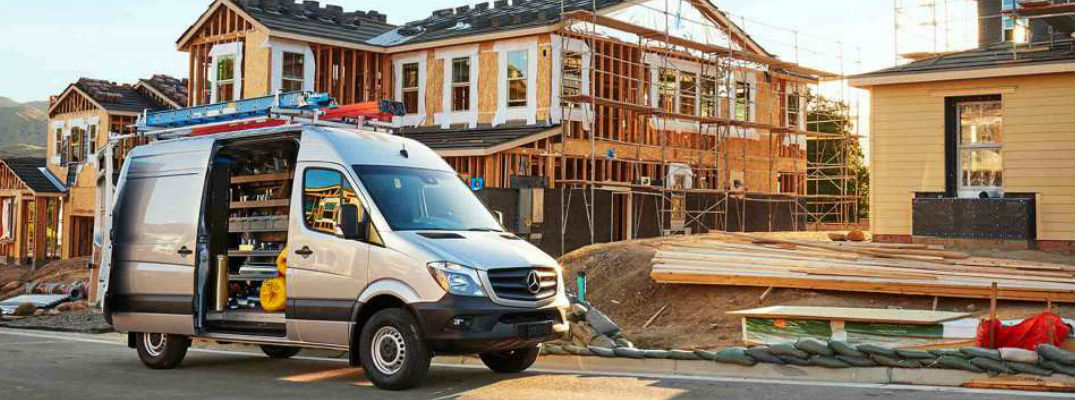 2017 Sprinter Cargo Van on Construction Site