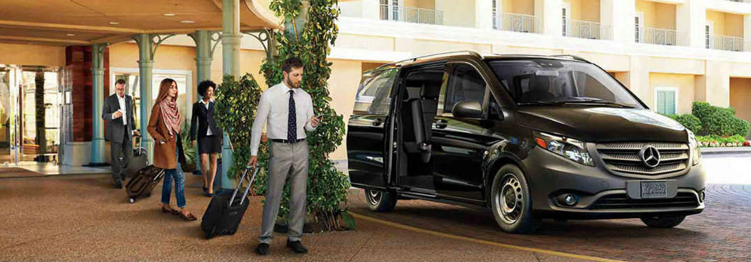 mercedes-benz metris van at hotel