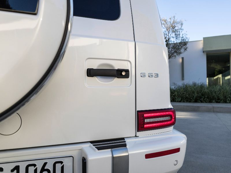 2019 mercedes-amg g63 taillight closeup