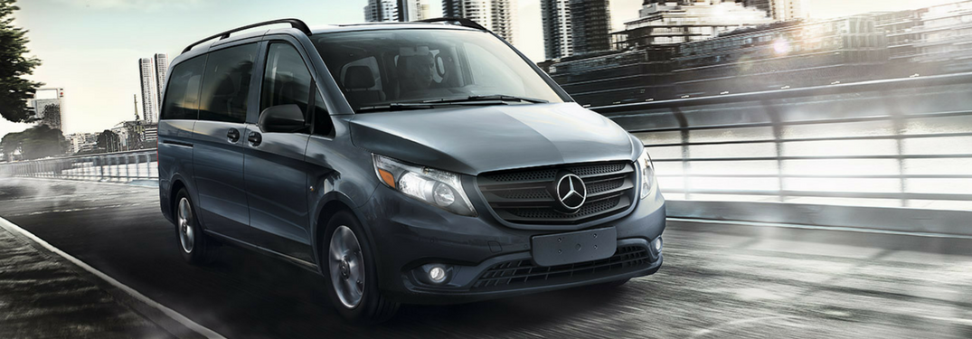 2018 mercedes-benz metris van driving full view