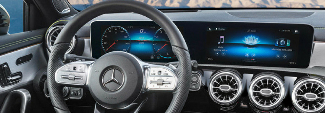 interior dashboard of the 2018 A_Class