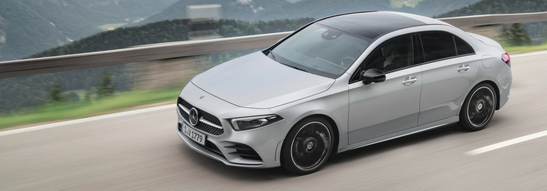 2019 mercedes-benz a-class driving full view