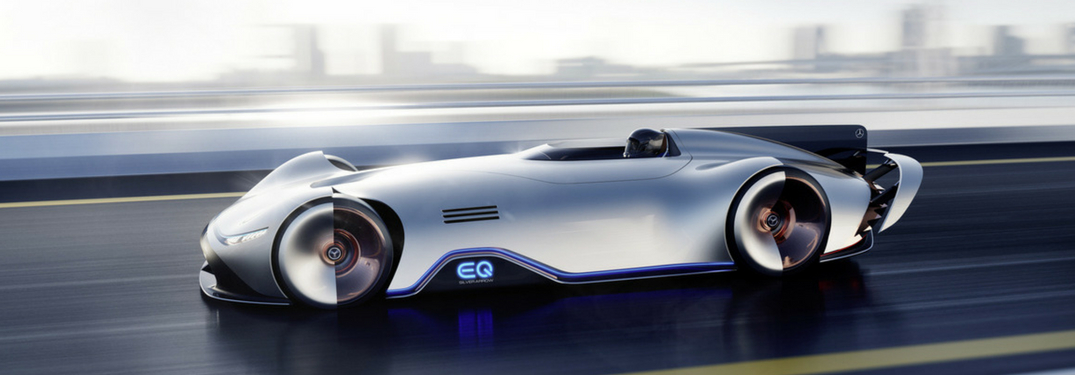 mercedes-benz EQ Silver Arrow concept car full view
