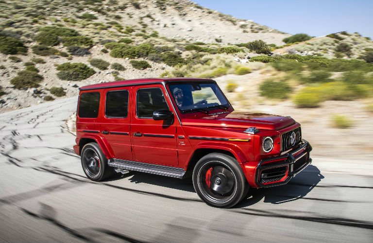 2019 Mercedes-AMG G 63 sideview in red