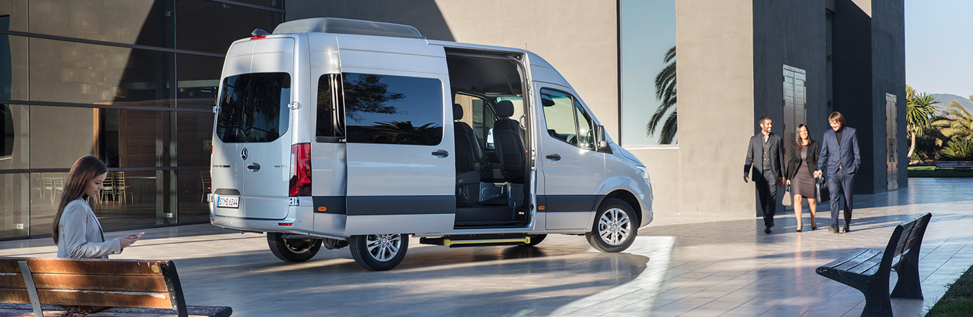 2019 Mercedes-Benz Sprinter cargo van by fancy building