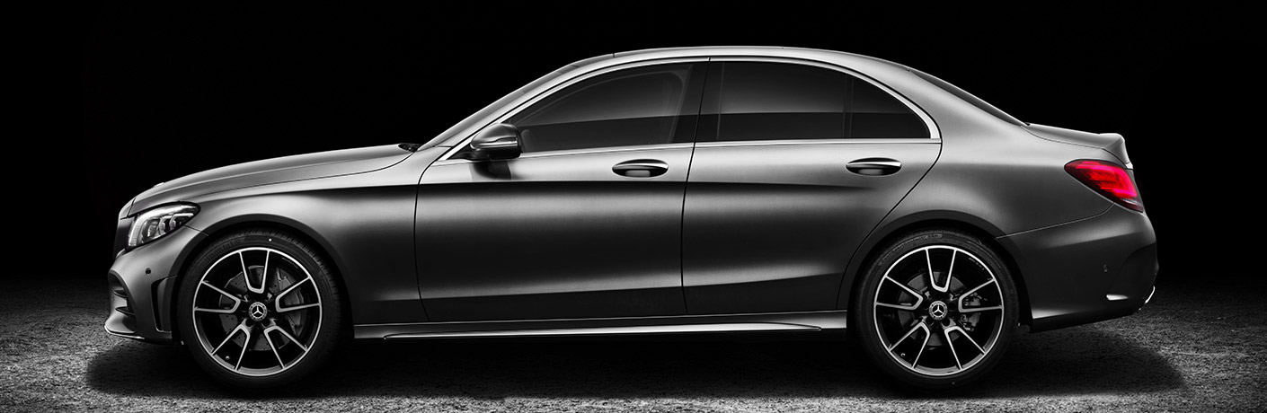 silver 2019 Mercedes-Benz C-Class sedan