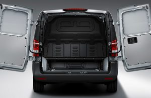 rear cargo space of the metris van