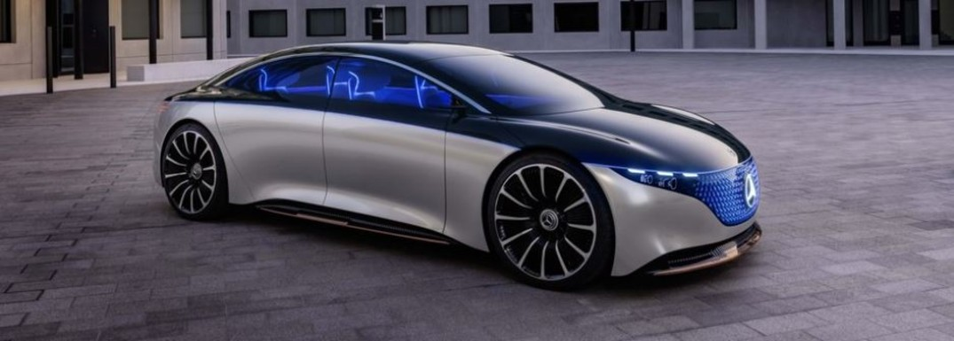 exterior of mercedes-benz vision car
