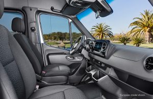 front seat of a mercedes-benz sprinter van