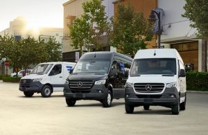 three mercedes-benz sprinter passenger vans