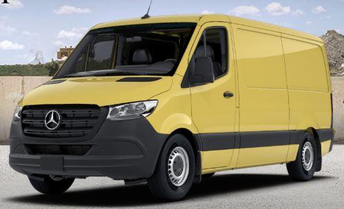 yellow 2019 Mercedes-Benz Sprinter Cargo Van