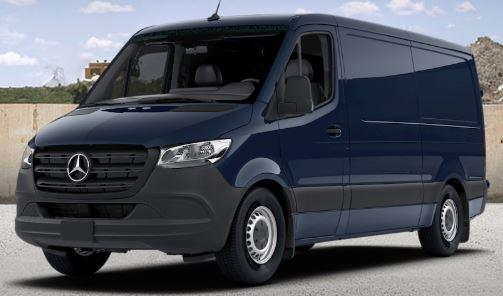 steel blue 2019 Mercedes-Benz Sprinter Cargo Van