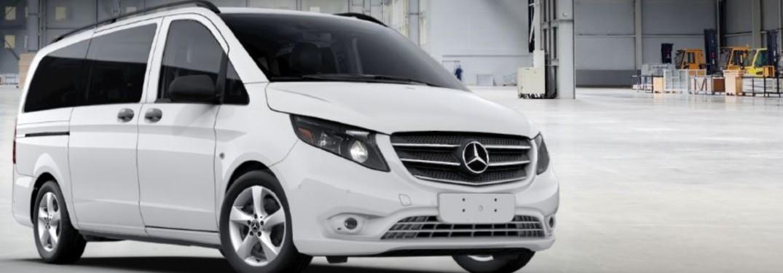 white 2020 Mercedes-Benz Metris passenger van