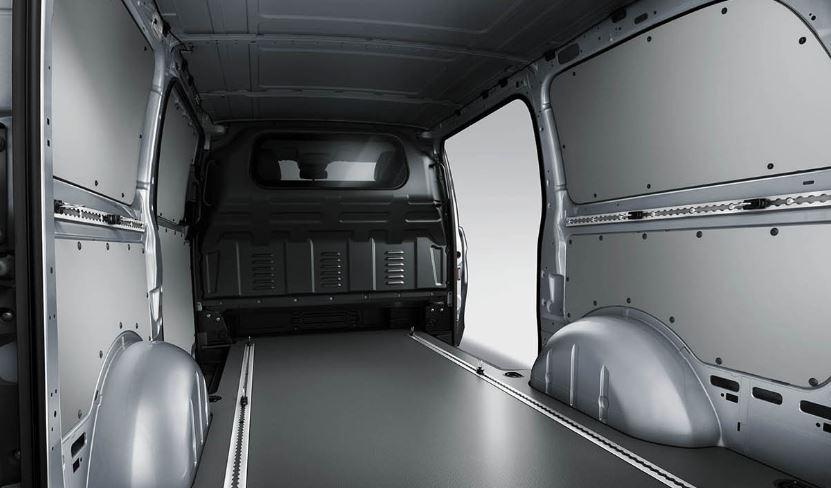 interior cargo space of a mercedes-benz metris worker cargo van