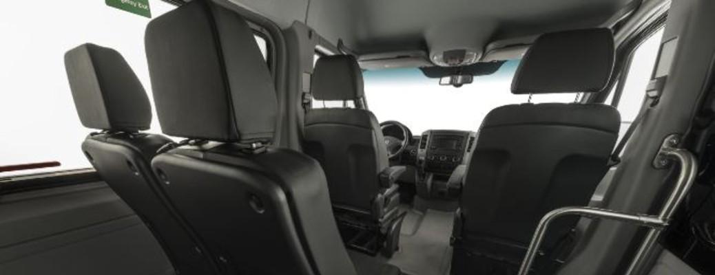 seats in a Mercedes-Benz Sprinter van